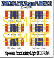 Flag 2510 Napoleonic: French Infantry Legere 1812-25 # 1
