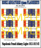 Flag 2511 Napoleonic: French Infantry Legere 1812-25 # 2