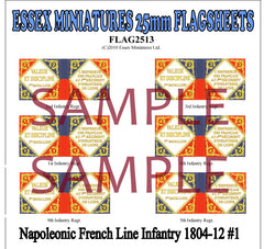 Flag 2513 Napoleonic: French Line Infantry 1804-12 # 1