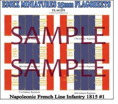 Flag 251 Napoleonic: French Line Infantry 1825 # 1