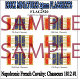 Flag 2520 Napoleonic: French Cavalry Chasseurs 1812-25