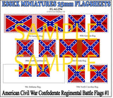 Flag 254 American Civil War: Confederate Regimental Battle Flags # 1