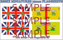 Flag 2554 American War of Independence: British Foot Regiments # 2