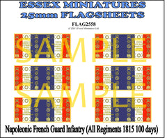 Flag 2558 Napoleonic: French Guard Infantry (All Regiments 1825 100 days)