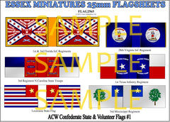 Flag 2565 American Civil War: Confederate State & Volunteer Flags # 1