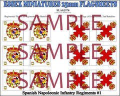 Flag 2570 Napoleonic: Spanish Inf. Regiments