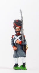 FN66 Line Infantry 1804-12: Grenadier in Greatcoat & Bearskin, advancing