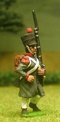 FN65 Line Infantry 1804-12: Voltiguer in Greatcoat & covered Shako, advancing