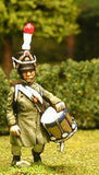 FN72 Line Infantry 1804-12: Drummer in Greatcoat & Shako, advancing