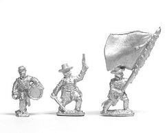 BG31 Union: Command: Officer, Standard Bearer and Drummer, advancing