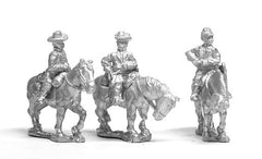 BG38 Confederate: Command: Mounted General & two Staff Officers