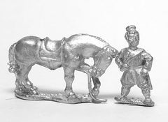 CHN22 Chin Chinese: Early Chinese horse holders, two men with four horses