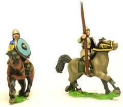 DGS12 Dark Age: Medium / Light Cavalry in helmets with lance and separate shield