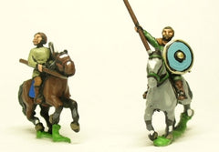 DGS13 Dark Age: Medium / Light Cavalry with bare heads, lance & separate shield