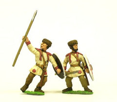 EXR39a Auxiliary Infantry with Fur Cap & Medium Oval Shield
