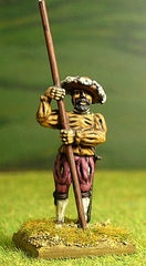 LM22 Landsknechts: Pikeman with Pike upright (rear rank)