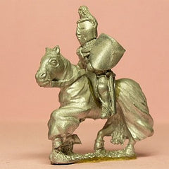 M22a Mounted Knight c.1380 in Studded Jack, Plate Armour & Crested Great Helm