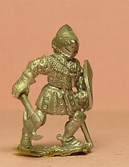 M23 Dismounted Knight c.1380 in Studded Jack, Plate Armour & visored Bascinet