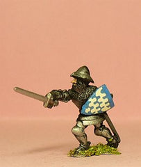 M31 Dismounted Knight c.1400 in Plate Armour & Kettle Helm