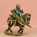 M34 Mounted Knight c.1415 in Plate Armour and visorless Bascinet