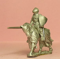 M36 Mounted Knight c.1420 in Plate Armour & visored Helmet, Mail Aventail