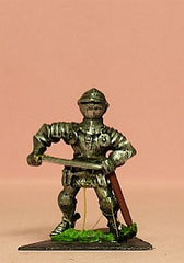 M43 Dismounted Knight 1440 in Milanese Plate Armour & Bycocket Helm