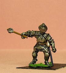 M45 Dismounted Knight c.1450 in Plate Armour & Great Bascinet