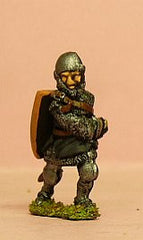 M4c Later Medieval: Dismounted Knight c.1315 in Open Faced Round Helmet