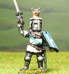 M6d Later Medieval: Dismounted Knight c.1355 in Great Helm with Boar Crest