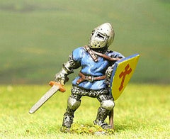 M6e Later Medieval: Dismounted Knight c.1360 in Conical Helm with closed visor