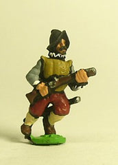 MER105 Spanish & English 1559-1605AD: Musketeer in Morion, advancing