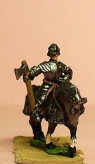 MER10 Late Medieval: Knights, 1420-1480AD in Full Plate & Sallet with Mace, Axe or Sword, on Armoured Horse