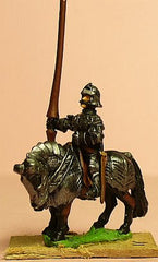 MER11 Late Medieval: Knights, 1420-1480AD in Full Plate & Sallet with Lance, on Armoured Horse