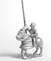 MER49 Late Medieval: Gendarme in Closed Helm with no plume on Armoured Horse