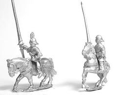 MER50a Early Renaissance: Gendarmes in Sallets on Unarmoured Horse