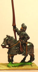 MER7 Late Medieval: Knights, 1400-1430AD in Full Plate & Great Helm, with Lance on Armoured Horse