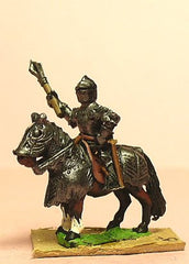 MER8 Late Medieval: Knights, 1400-1430AD, in Full Plate & Great Helm with Mace or Axe and Sword on Armoured Horse