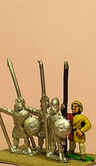 MID96 Spanish: Light / Medium Long Spearmen with Small Round Shield (Scots)