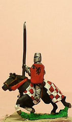 MID99 Later Spanish: Knights, 1350-1420AD in Jupon with Lance & Shield, on Barded Horse