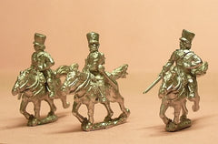 PPN31 Prussian 1814-15: Command: Landwehr Cavalry Officers & Trumpeter