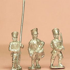 PPN3 Prussian 1814-15: Command: Musketeers or Grenadier Officers, Standard Bearers & Drummers