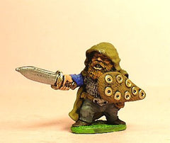 Q12 Dwarf: Hooded Fighter with Sword