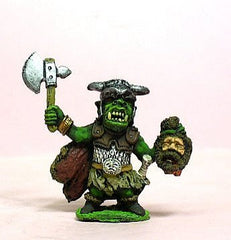 Q34 Orc: holding severed head, with two handed Axe