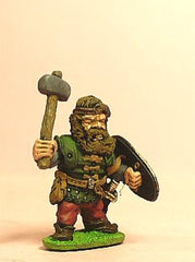 Q8 Dwarf: Fighter with stone hammer and shield