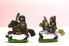 Q98 Halflings: Mounted on Ponies with Sword or Spear