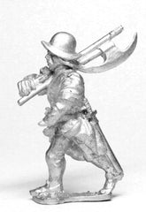 RPO1 Polish: Musketeer advancing with 2 Handed Axe, in Helmet