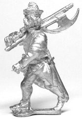 RPO1b Polish: Musketeer advancing with 2 Handed Axe, in Fur Cap