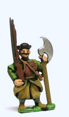 RPP3 16-17th Century Polish: Musketeer with 2 Handed Axe, with shouldered Musket