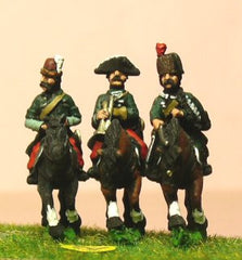 SYP29 Seven Years War Prussian: Command: 2 Lancer Officers & Trumpeter
