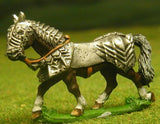H34 Horses: Medieval, Fully Armoured: Gothic, walking